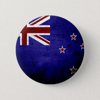 Black Grunge New Zealand Flag 1 6 Cm Round Badge