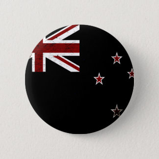 Black Grunge New Zealand Flag 2 6 Cm Round Badge