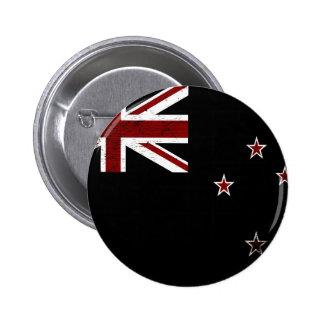 Black Grunge New Zealand Flag 2 6 Cm Round Badge