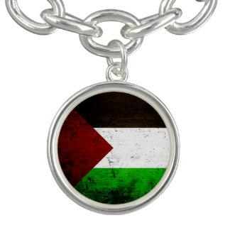 Black Grunge Palestine Flag