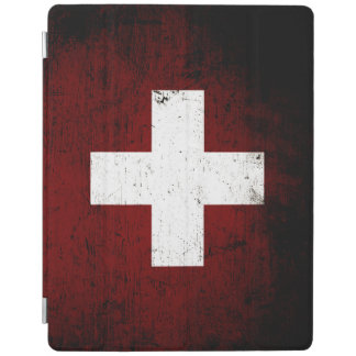 Black Grunge Switzerland Flag iPad Cover