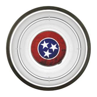 Black Grunge Tennessee State Flag