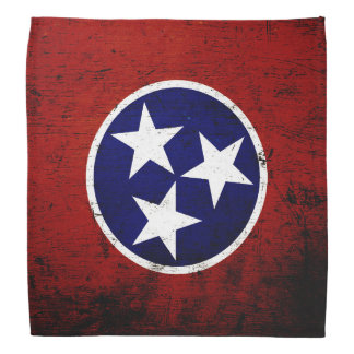 Black Grunge Tennessee State Flag Bandannas