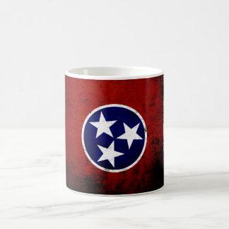 Black Grunge Tennessee State Flag Basic White Mug