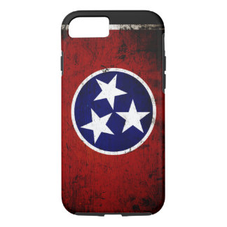 Black Grunge Tennessee State Flag iPhone 7 Case