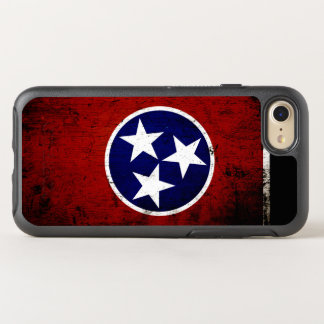 Black Grunge Tennessee State Flag OtterBox Symmetry iPhone 7 Case