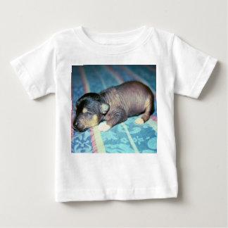 Black Hairless Chinese Crested Newborn Puppy Baby T-Shirt