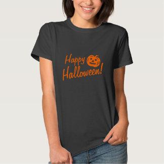 Black Halloween tee shirt for women | pumpkin head
