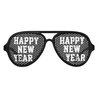 Black Happy New Year Party shades