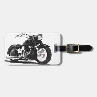 Black Harley motorcycle Luggage Tag