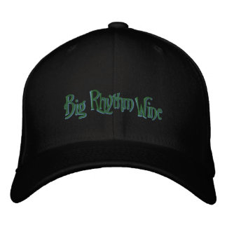 Black Hat with Green and Yellow logo Embroidered Hats