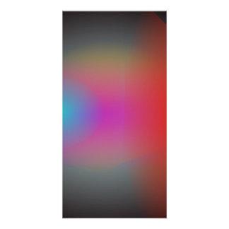 Black Hazy Airbrush Abstract Art Photo Card