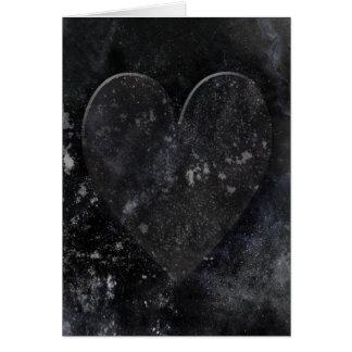 Black Heart Night Sky Gothic Valentine's Day Card