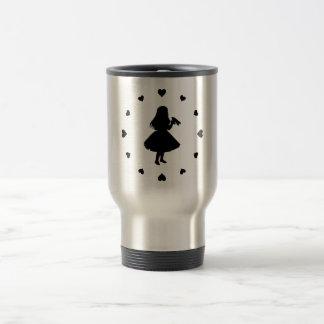Black Hearts Around Alice Drinks Travel Mug
