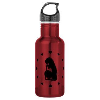 Black Hearts Around the Caterpillar 532 Ml Water Bottle