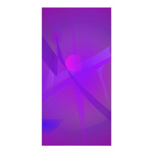 Black Hole Purple Digital Abstract Art Photo Card Template