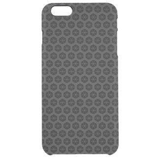 Black Honeycomb Clear iPhone 6 Plus Case