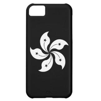 Black Hong Kong Orchid Flower Regional Flag iPhone 5C Case