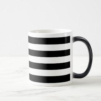 Black Horizontal Stripes Magic Mug