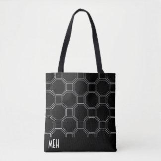 Black HT1 Minor Monogram Tote Bag