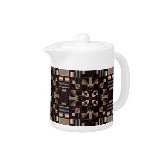 Black Ivory Brown Deco Mosaic