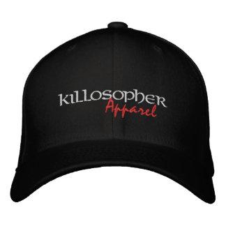 Black Killosopher Apparel Flexfit Cap Embroidered Baseball Cap