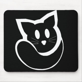 Black Kittyball Mousepad