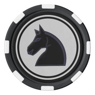 Black Knight Chess Piece Poker Chips