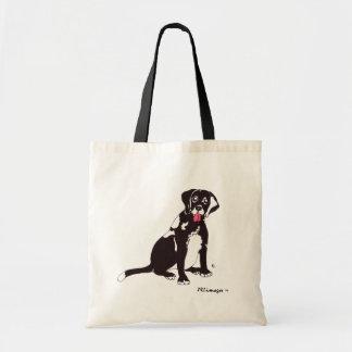 Black Lab Dog Tote Bag