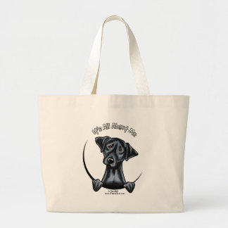 Black Lab Its All About Me Large Tote Bag
