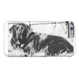 Black Lab Laying in the Sun Sketch Barely There iPhone 6 Case
