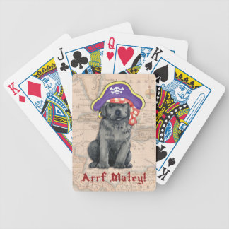 Black Lab Pirate Bicycle Playing Cards