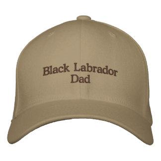 Black Labrador Dad Text Embroidered Baseball Cap