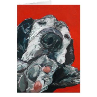 Black Labrador Retriever Dog Art Greeting Card