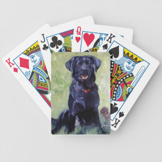 Black Labrador Retriever Playing Cards
