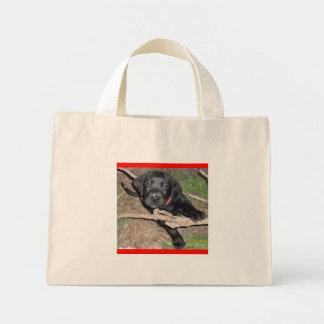 black labrador retriever puppy mini tote bag