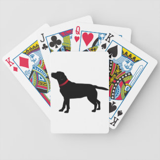 Black Labrador with Red Collar Bicycle Playing Cards