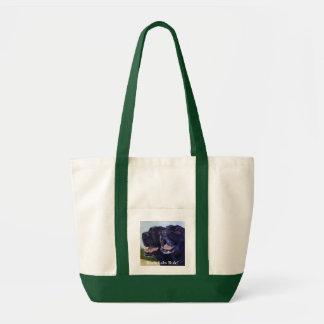 Black Labs Rule! Tote Bag