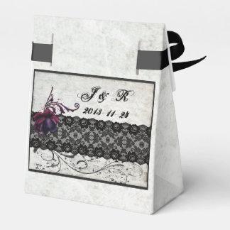 Black Lace Wedding Suite Wedding Favour Box