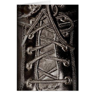Black Leather and Laces Card