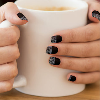 Black Leopard Minx Nails Nail Sticker