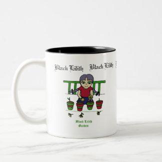 Black Lilith garden's Two-Tone Mug