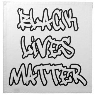 Black Lives Matter Graffiti Napkin