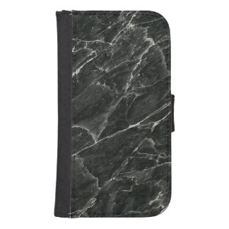 Black Marble Samsung S4 Wallet Case