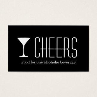 Black martini corporate logo event drink ticket
