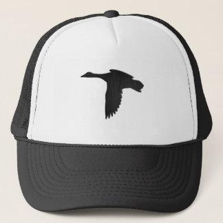 Black Metal - Mallard Duck in Flight Trucker Hat