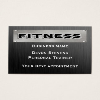 Black Metal Silver Fitness Appointment Card Templa