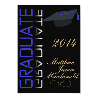 Black Mirror Formal 2014 Graduate 13 Cm X 18 Cm Invitation Card