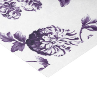 Black Mulberry Purple Vintage Floral Toile No.2 Tissue Paper