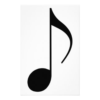 black musical-note stationery